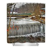 Icy Conditions Shower Curtain