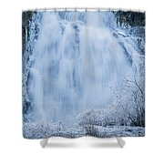Icy Falls Shower Curtain