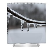 Icy Finger Shower Curtain