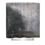Icy Fog Shower Curtain