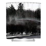 Icy Fog Shower Curtain