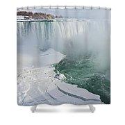 Icy Fury - Niagara Falls Spectacular Ice Buildup Shower Curtain