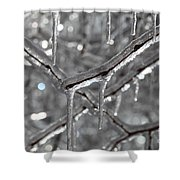 Icy Glitters Shower Curtain