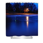Icy Glow Shower Curtain