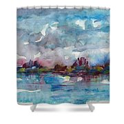 Icy Lake Shower Curtain