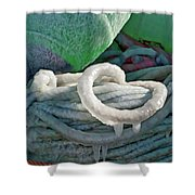 Icy Lines Shower Curtain