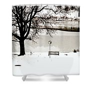Icy Pond Shower Curtain