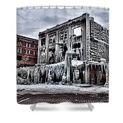 Icy Remains - After The Fire Shower Curtain by Jeff Swanson
