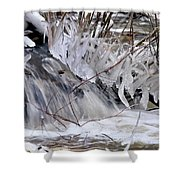 Icy Spring Shower Curtain