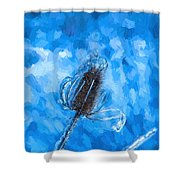 Icy Thistle Plant Shower Curtain