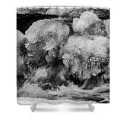 Icy Harmony Shower Curtain