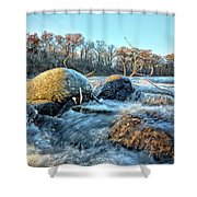 Icy Waters 2 Shower Curtain