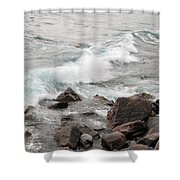 Icy Waves Shower Curtain
