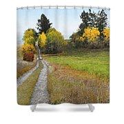 Idaho Backroad Autumn Shower Curtain
