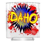 Idaho Comic Exclamation Shower Curtain
