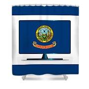 Idaho Flag Tv Shower Curtain