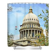 Idaho State Capitol In The Spring Shower Curtain