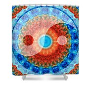 Ideal Balance Yin And Yang By Sharon Cummings Shower Curtain