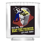 Ideas Will Help Beat The Promise Shower Curtain by War Is Hell Store