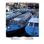Idle Tour Boats -- Amsterdam In November Shower Curtain