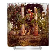 Idyll Pan Amidst Columns 1875 Shower Curtain
