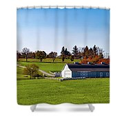 Idyllic Autumn Farm Shower Curtain