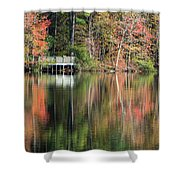 Idyllic Autumn Reflections Shower Curtain