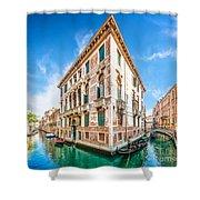 Idyllic Canal In Venice Shower Curtain