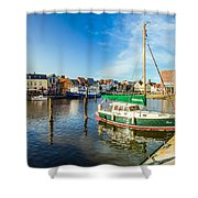 Idyllic North Sea Town Of Husum Shower Curtain
