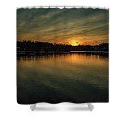 Idyllic Philadelphia Sunset Shower Curtain