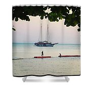 Idyllic Setting To Idle The Time Away Shower Curtain