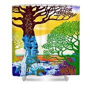 If A Tree Falls In Sicily Color 2 Shower Curtain