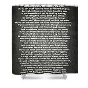 If Poem By Rudyard Kipling Shower Curtain