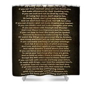 If Poem Vintage Canvas Shower Curtain