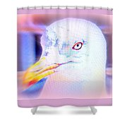 If The Bird Is A Predator Put It In Jail  Shower Curtain