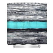 ...if The Sky Send A Message... Shower Curtain