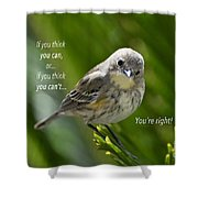 If You Think You Can - Henry Ford Shower Curtain