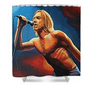 Iggy Pop Painting Shower Curtain