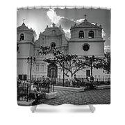 Iglesia Ciudad Vieja - Guatemala Bnw Shower Curtain