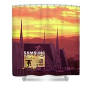 Iglesia Ni Cristo Sunset Cebu City Philippines Shower Curtain
