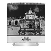 Iglesia San Francisco - Antigua Guatemala Bnw Shower Curtain