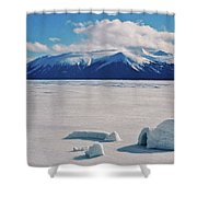Igloo On Atlin Lake - Bc Shower Curtain