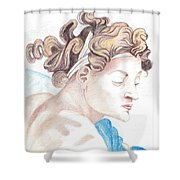 Ignudo Sistine Chappel Michelangelo Shower Curtain
