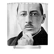 Igor Stravinsky, Russian Composer Shower Curtain