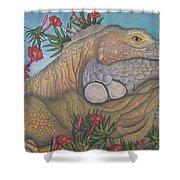 Iguana Iguana Shower Curtain