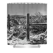 Ih Black And White Shower Curtain