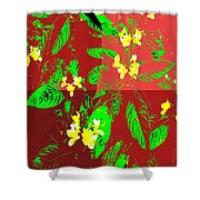Ikebana Shower Curtain by Eikoni Images