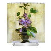 Ikebana Lilacs Shower Curtain