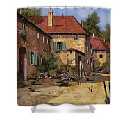 Il Carretto Shower Curtain by Guido Borelli