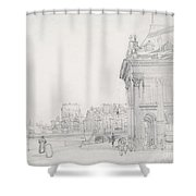 Ile De La Cit? From The Institut, Paris Shower Curtain